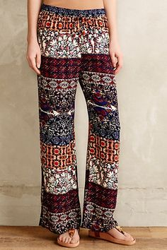 Mix-Print Gauze Wide-Legs - anthropologie.com #anthrofave