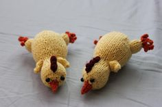 Free chicken toy knitting pattern in time for Easter