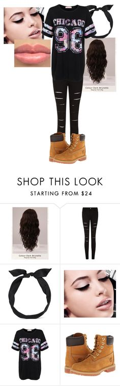 """Untitled #51"" by mayaforever3 ❤ liked on Polyvore featuring WigYouUp, yunotme, Maybelline and Timberland"