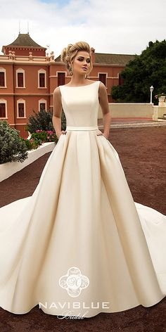 Wonderful Perfect Wedding Dress For The Bride Ideas. Ineffable Perfect Wedding Dress For The Bride Ideas. Simple Wedding Gowns, Wedding Dress With Pockets, Modest Wedding Dresses, Elegant Wedding Dress, Designer Wedding Dresses, Bridal Dresses, Wedding Ideas, Dress Wedding, Trendy Wedding