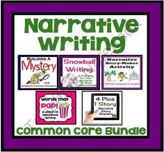 Narrative Writing Bundle: Activities, Worksheets, & Presentations (Common Core)  from Presto Plans on TeachersNotebook.com (125 pages)  - This narrative writing package is a bundle of some of my best-selling narrative products. It has everything you will need to teach story writing in a fun and creative way. Your students will love the modern ideas, activities, presentations, and prompts!