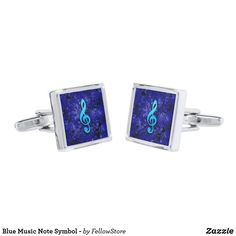 Blue Music Note Symbol -