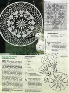 Mandala patron We are want to say thanks if you like to sh Crochet Dreamcatcher Pattern, Mandala Au Crochet, Crochet Doily Diagram, Crochet Diy, Crochet Circles, Crochet Doily Patterns, Crochet Home, Thread Crochet, Crochet Doilies