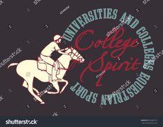 American College Academy polo sports graphic design vector art