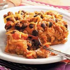 Turkey Enchilada Casserole Recipe - 8 points per serving