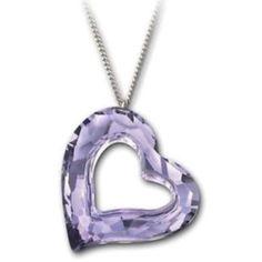 Swarovski Lilac Heart Necklace