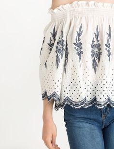 ots #summer #offtheshoulder #embroidery #fashion #pixiemarket