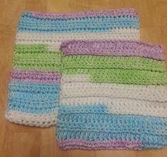 half double back loop crochet dishcloth