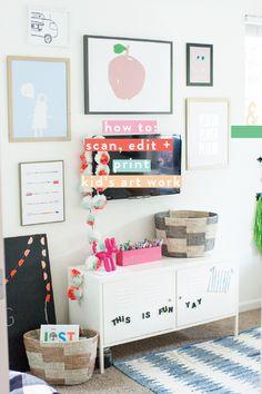 HOW TO SCAN, EDIT + BLOW UP KID'S ART | RAE ANN KELLY