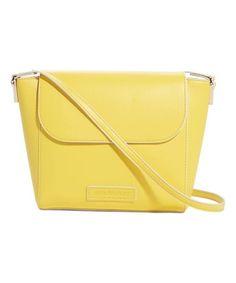 Yellow Flap Crossbody Bag #zulily #zulilyfinds