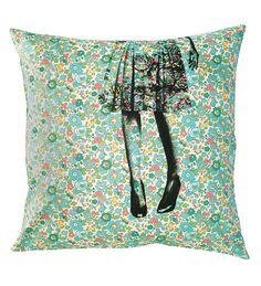 liberty printed cushion