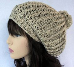 Crochet hat pattern. Fabulous stitch definition in this beanie style crochet hat. Great unisex crochet beanie. Fun and fluffy pom pom adornment,