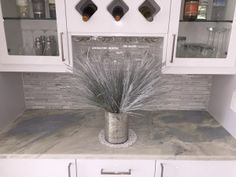 Lumen Quartzite Countertops Project By Sobe Stone In Hallandale Beach,  Florida. This Kitchen Renovation Features Beautiful Gray And White Streaked  Quartzite