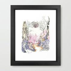 Woodland Magic Framed Art Print by Jessica Feral - $35.00
