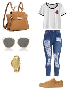 Casual Outfit by jenimarrivera on Polyvore featuring polyvore, fashion, style, ZAC Zac Posen, Michael Kors, Christian Dior and clothing