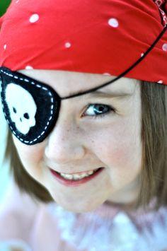pirate eye patch, felt pirat, parch pirata, goodie bags, pirat eye
