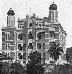 O castelo de Oswaldo Cruz, na Av. Brasil, em 1919.