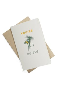 A witty greeting card for a playful touch.