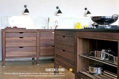Danish Kitchen Furniture looks good for craft storage! Kitchen Stand, Freestanding Kitchen, Wood Kitchen, Kitchen Remodel, Kitchen Design, Kitchen Inspirations, Kitchen Furniture, Kitchen Dining, Danish Kitchen