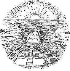 """(1919) Extract from """"Stadtkrone"""" (City crown) - Bruno Taut   ## """"Corona della città"""" - Disamina sul piano urbanistico-sociale di un idea di città il cui baricentro sia costituito da un edificio di tale potenza evocativa da produrre un benefico effetto palingenetico sul tessuto sociale ##"""