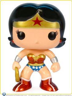 Amazon.com: Funko POP! Heroes DC Universe Metallic Wonder Woman Chase Vinyl Figure: Toys & Games