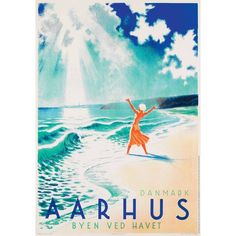 "Aarhus, Denmark ""City by the sea"" min familie er fra århus. MOR&FAR. happy content with our bodies. Aarhus, City By The Sea, Plakat Design, Denmark Travel, Copenhagen Denmark, Museum Exhibition, Odense, Vintage Travel Posters, Places To Go"