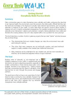 """Getting Started Guide from EveryBodyWalk.org 