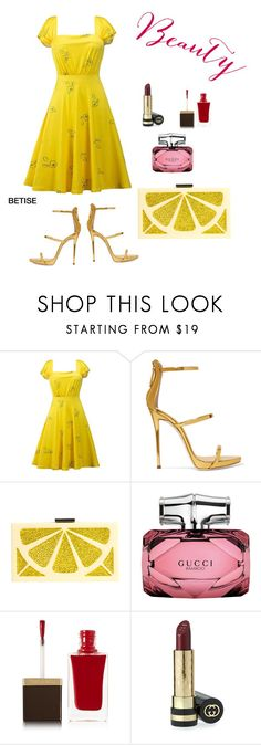 """""""💛 ELEGANT  VINTAGE....   JUST YELLOW 💛"""" by betty-sanga ❤ liked on Polyvore featuring Giuseppe Zanotti, Alice + Olivia, Gucci, Tom Ford and vintage"""