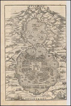 Great city planning for defense, now buried under modern city ░ Map of Mexico City 1556