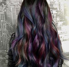 Oil Slick hair by Guy Tang