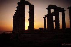 #sounio #temple #posidon #greece #sunset