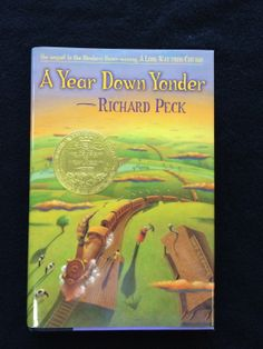 A Year Down Yonder  by Richard Peck  2000     A sequel to A Long Way from Chicago, Mary Alice is sent to live with her grandmother in a small town south of Chicago during the Great Depression.  She and her cat, Bootsie, experience an unpredictable year of adventures.  Peck won the 2001 Newberry Medal for this children's novel, and later published a sequel A Season of Gifts.