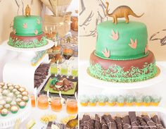 The most adorable Dino Party! Every detail is beyond DINO-tastic! Take a look at Designdazzle.com!