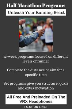 #HalfMarathon #programs to help you achieve your #running goals! You can also race our Virtual Athlete to make your training more intense and motivational. #SportHeadphones #FitnessTech