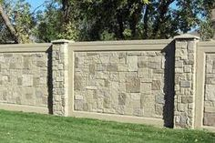 block wall design fence - Google Search