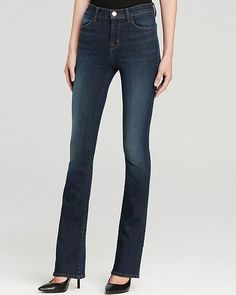 J BRAND NEW Womens Close Cut Remy High Rise Bootcut Denim Jeans in Storm $198 #JBrand #Flare