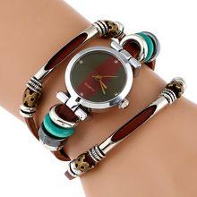 ab0c335d7031 Nueva Duoya Mujeres de Moda Reloj Pulsera de Cuarzo de Oro Vestido de la  Mujer Reloj de Cuero Casual Relojes de Pulsera de Regalo envíos gratuitos en  todo ...