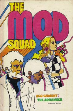 Retro 1960s The Mod Squad Novelty Book Graphic Design Cover Classic TV Collectible Pulp Fiction Art Supply.