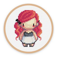 ALIETTE: a pixel art counted cross stitch pattern por iamnotadoll