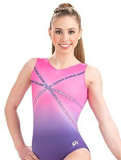 GK Girls Glitz & Glam Pink and Purple Gymnastics Leotard ...