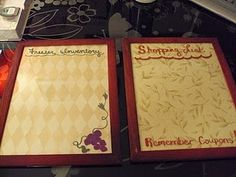 My Dollar Tree frame dry erase boards