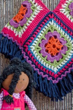 Resultado de imagen para graficos de ponchos a crochet