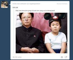 that one time kim jong ill took kim jong un to disneyland