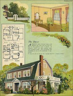 1924 William A. Radford - Dutch Colonial Revival - Gambrel roof
