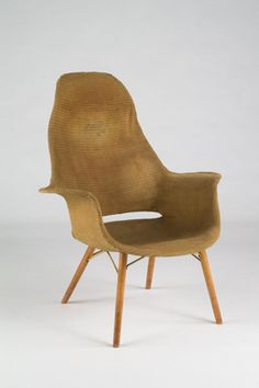 MOMA Organic Design Competition High Back Lounge Chair (1941)  Charles and Ray Eames