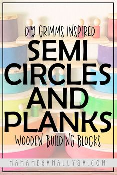 Super Simple DIY Semicircles and Planks for Extra Rainbow Fun - MamaMeganAllysa Rainbow Wood, Rainbow Rice, Simple Diy, Super Simple, Easy Diy, Wooden Building Blocks, Wooden Blocks, Grimms Rainbow, Small World Play