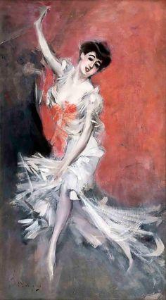 """Giovanni Boldini """"Ritratto di danzatrice"""""""
