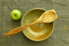 Large Swedish style birch wood chefs spoon