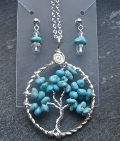 tree of life with matching earrings