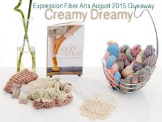 Expression Fiber Arts Yarn| A Positive Twist on Yarn – CREAMY DREAMY August 2015 Yarn Giveaway 1 ENTER NOW! Ends August 8th.
